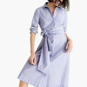 NWT J. Crew Tie-Waist Shirtdress